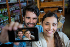 Happy couple taking a selfie Stock Photos