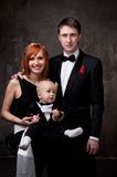 Happy couple with their child Royalty Free Stock Image