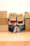 Happy couple in their new home concept Royalty Free Stock Photo