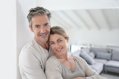 Happy couple in their new house Royalty Free Stock Photography