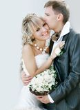 Happy couple on their wedding day Royalty Free Stock Image