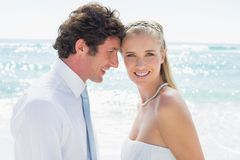 Happy couple on their wedding day Royalty Free Stock Photos
