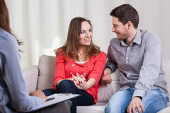 Happy couple after therapy Royalty Free Stock Photo