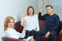 Happy couple therapy session is held at the Stock Photography
