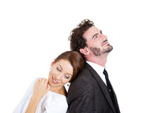 Happy couple thinking Royalty Free Stock Photography