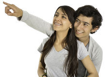 This is a happy couple. Royalty Free Stock Photo