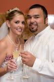 Happy Couple Toasting Stock Photo