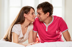 Happy couple together Royalty Free Stock Photos