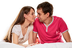 Happy couple together Stock Images