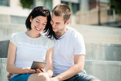 Happy couple together Stock Photography