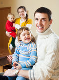Happy couple with two children Royalty Free Stock Photo
