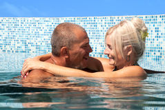 Happy couple on vacation Stock Photography