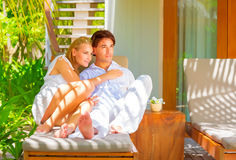 Happy couple on vacation Royalty Free Stock Photography