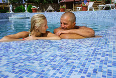 Happy couple on vacation Royalty Free Stock Images