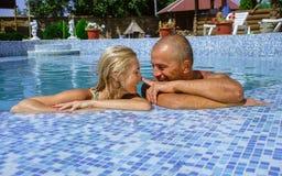 Happy couple on vacation Stock Photos