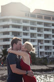 Happy Couple In Vacation in San Andres, Colombia Stock Photography