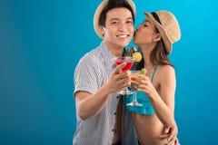 Happy couple on vacations Stock Photo
