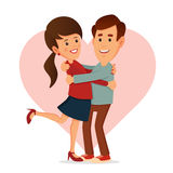 Happy Couple. Valentine's Day Stock Image