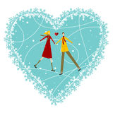 Happy Couple Valentines day greeting card Royalty Free Stock Photos