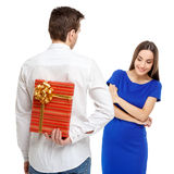 Happy couple on Valentines day Royalty Free Stock Photo
