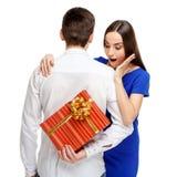 Happy couple on Valentines day Stock Photo