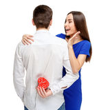 Happy couple on Valentines day Stock Photography