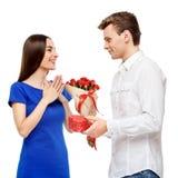 Happy couple on Valentines day Stock Image