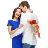 Happy couple on Valentines day Royalty Free Stock Image