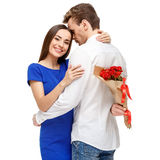 Happy couple on Valentines day Royalty Free Stock Images