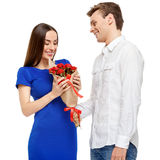 Happy couple on Valentines day Royalty Free Stock Photography