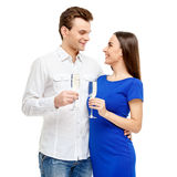 Happy couple on Valentines day Stock Images