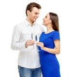 Happy couple on Valentines day Stock Photos