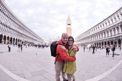 Happy couple in venice Stock Image