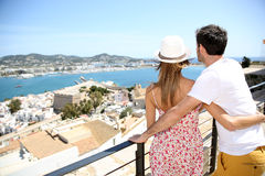 Happy couple visiting island of ibiza Royalty Free Stock Photo