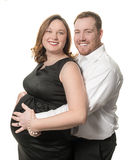 Happy couple waiting for the baby. Stock Photography