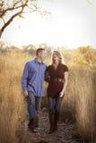 Happy Couple Walking Stock Image