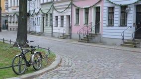 Happy couple walking in Berlin city stock footage