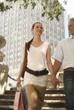 Happy Couple Walking Together Stock Photography