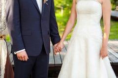 Happy couple during the wedding ceremony Stock Photo