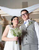 Happy Couple on Wedding Day Stock Photography