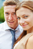 Happy couple at wedding Stock Images