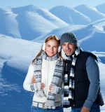 Happy couple on winter holidays Stock Photography