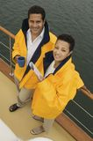 Happy Couple On The Yacht Stock Photos