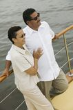 Happy Couple On The Yacht Royalty Free Stock Image