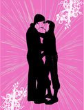 Happy Couples. Work with vectors illustration Stock Photography