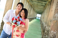 Happy Couples Dating Royalty Free Stock Images