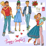 Happy Couples Royalty Free Stock Images