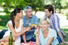Happy couples at the park Royalty Free Stock Images