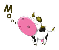 Happy cow. Cartoon character isolated vector illustration