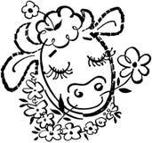 Happy Cow Royalty Free Stock Photos